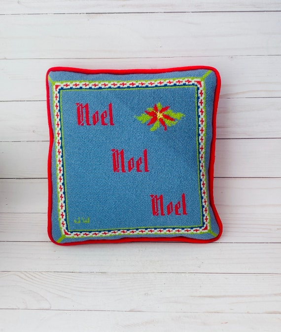 Christmas Needelopoint Pillow