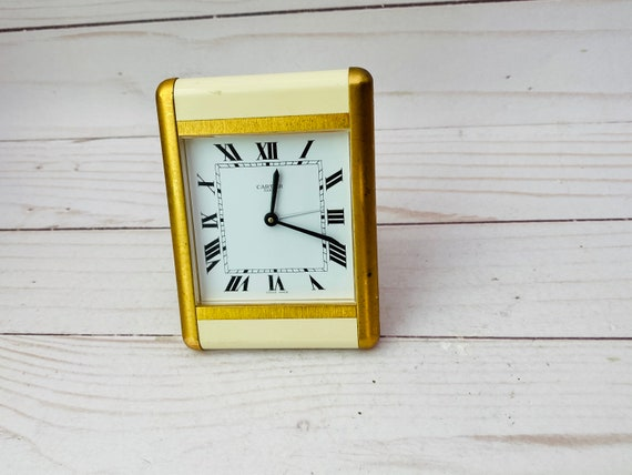 Cartier Desk Clock, Vintage