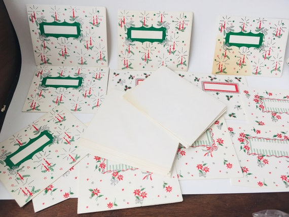 13 Vintage MCM Unused Christmas Cards