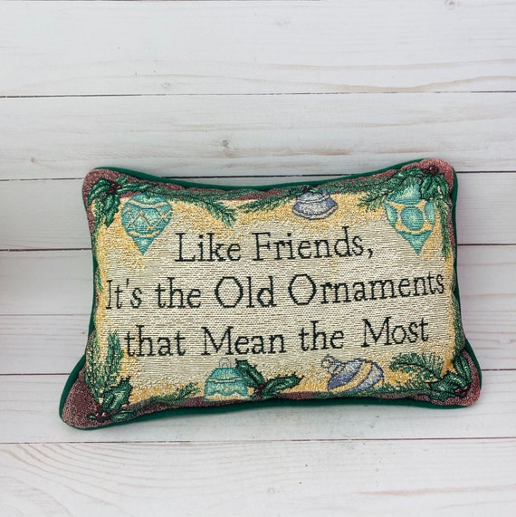Christmas Pillow--Small Novelty Throw Pillow With Humorous Saying
