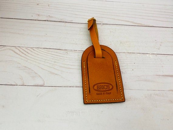 Bric's Made In Italy Leather Luggage Tag