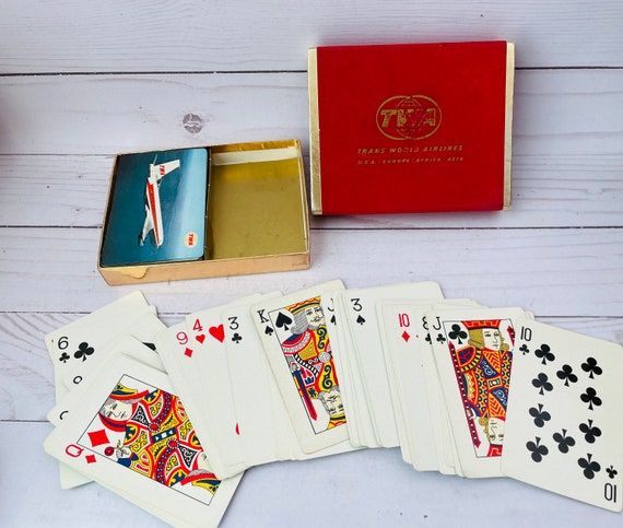 Vintage TWA Deck Of Cards--DouBle Deck Of Cards