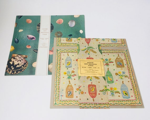 Vintage Danish Gift Wrapping Paper by H. George Caspari Inc.