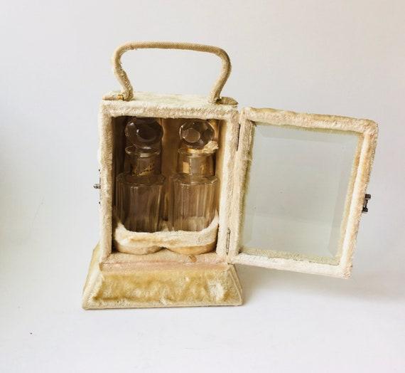 Antique Victorian B.D. Baldwin Perfume Bottles In Velvet Presentation Box
