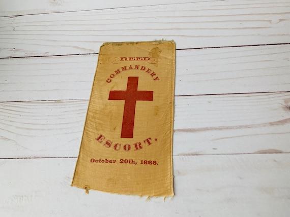 Antique Reed Commandery Escort Badge