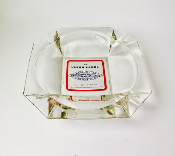 Vintage Extra Large Advertisement Ashtray