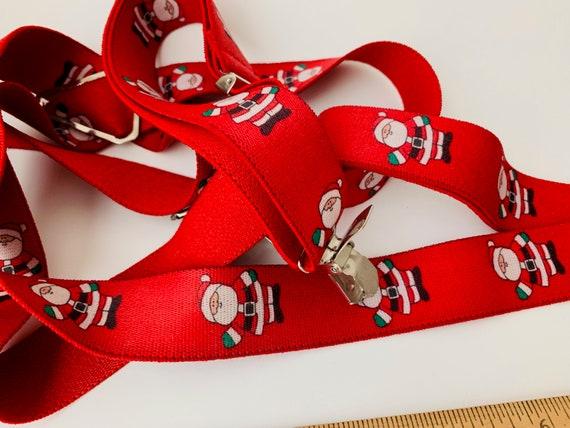 1990s Santa Christmas Suspenders