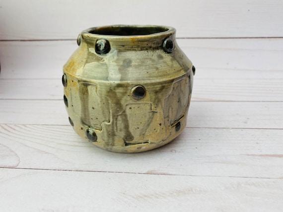 Vintage Stoneware Grey Pot-- Grey Pottery