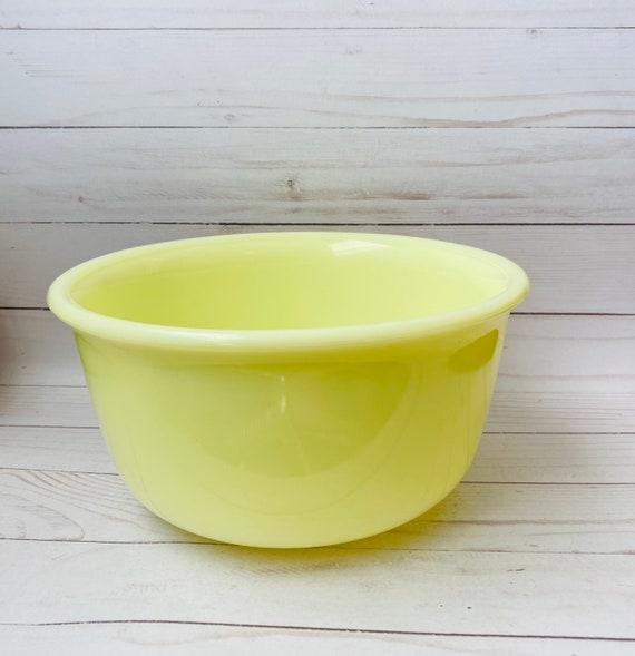 Vintage Yellow Milk Glass Hamilton Beach Mixing Bowl