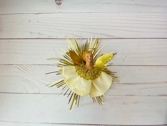 Vintage Angel Head Ornament--Christmas Angel Ornament