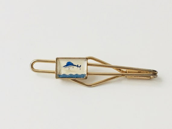 Vintage Marlin Swordfish Tie Bar