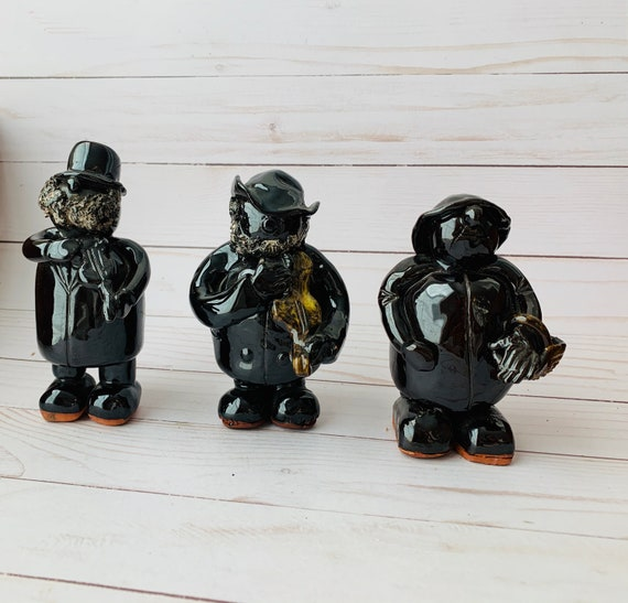 Vintage Set of 3 Carlisle Ceramic Figurines