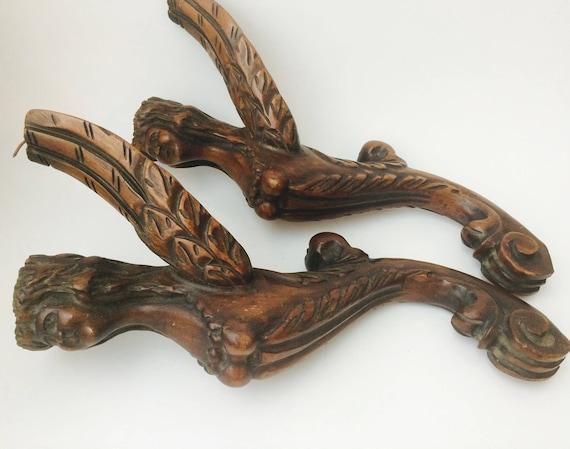 Wood Carved Legs - Pair of Furniture - Salvage