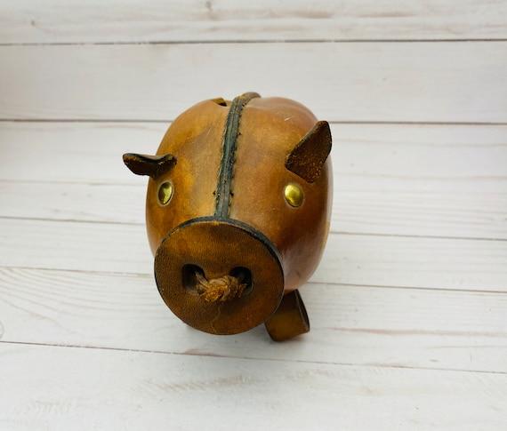 Kounoike Original Leather Piggy Bank- Leather Coin Bank