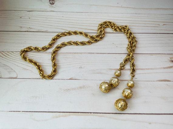Park Lane Gold Tone Chain Belt--Chain & Pearls Belt