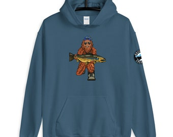 Trout Huntin' Squatch - Unisex Hoodie