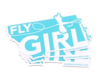 Montana Fly Girl - Women Fly Fishing Sticker