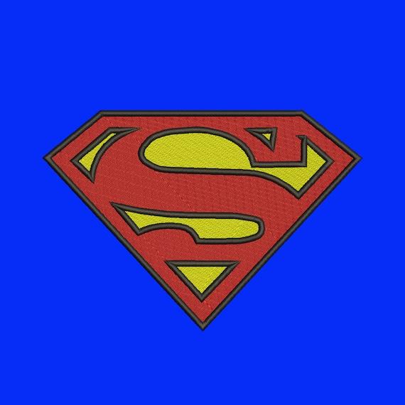 Superman Logo Broderie Taille 8 Dessins De Super Héros Logos Téléchargement Instantané Machine Motif De Broderie