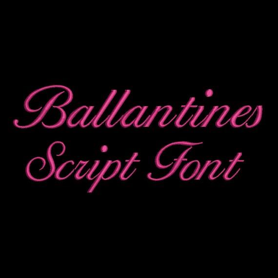 Ballantines Stickmuster 4 Größe Stickerei entwirft Schriften