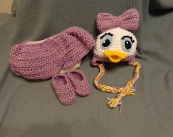 Girl Duck Baby Photo prop set