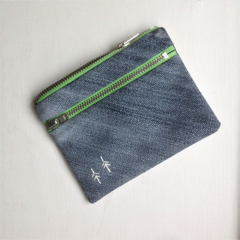 11238d3f45516 Upcycled portemonnaie   coin purse   zipper pouch   denim