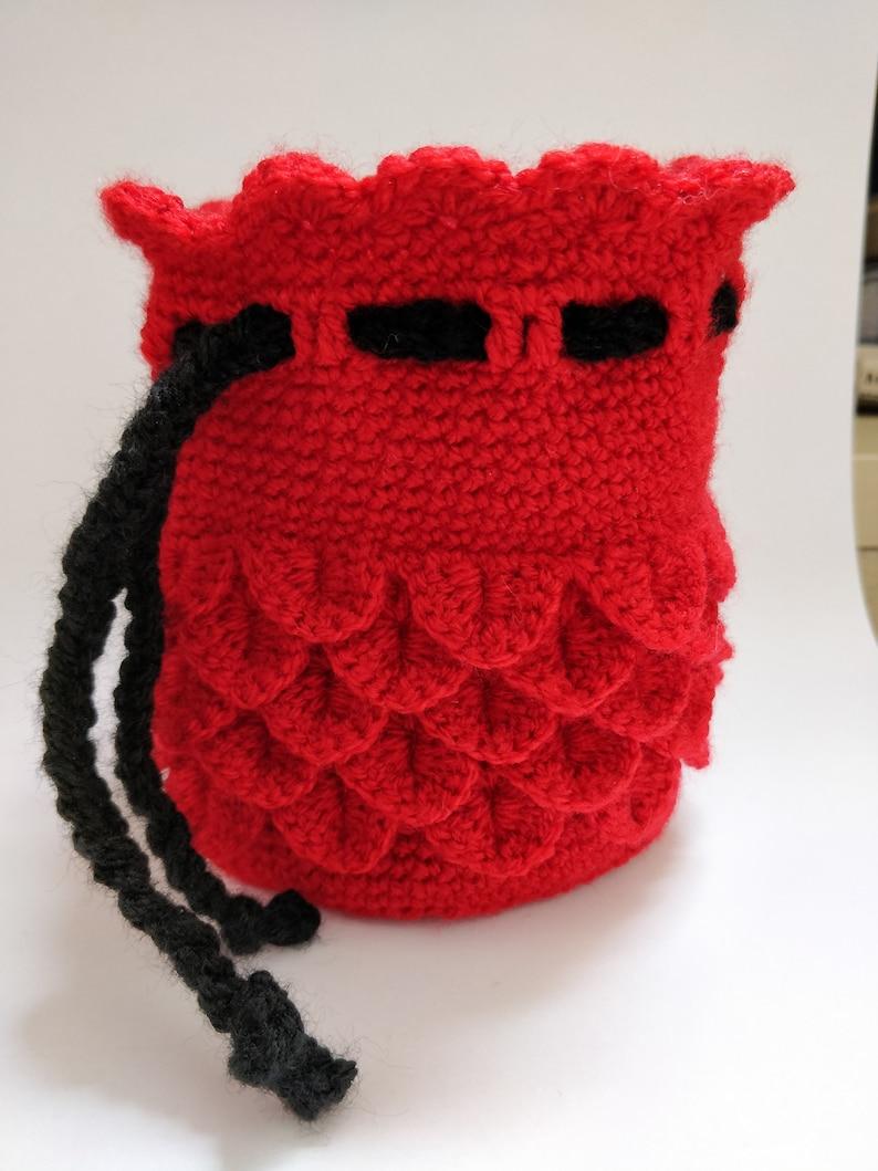 Crimson Wyvern Scale Dice Bag