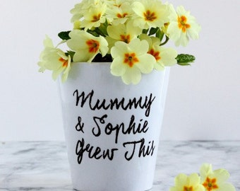 Mother's Day Plant Pot, Mummy & Me Plant Pot, Personalised Plant Pot,  Plant Pot With Names, Gardening Gift, gift for mum, gift from child
