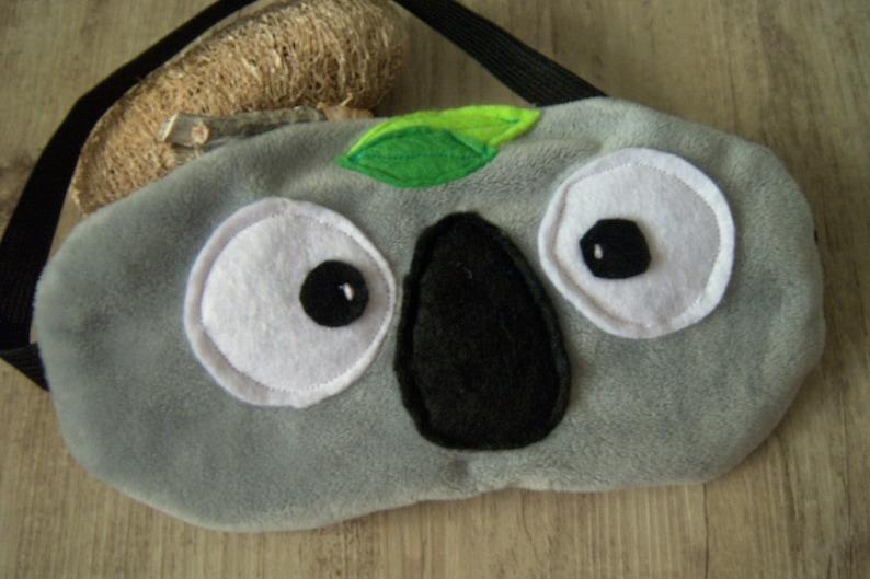 Koala sleep mask handmade sleeping mask animal sleep mask personalized sleep masks gray sleep mask soft touch eye cover cute eye cover