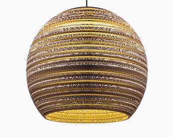cardboard lampshade sphere lampshade hanging lampshade handmade pendant lampshade scrap lights handmade lamp lamp light home decor gift - Hanging Lamp Shades