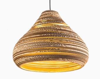 cardboard lampshade pear lampshade hanging lampshade handmade pendant lampshade scrap lights handmade lamp lamp light home decor - Hanging Lamp Shades