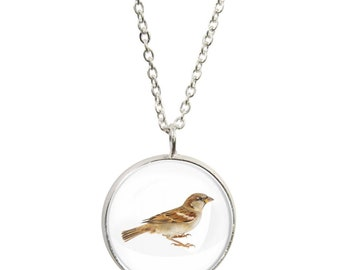 Twitches pendants etsy sparrow image on pendant and silver plated necklace mozeypictures Choice Image