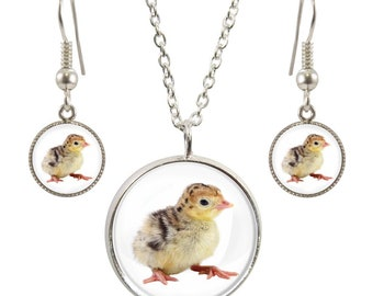 Twitches pendants etsy turkey image on silver plated pendant necklace and earring set aloadofball Images