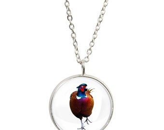 Twitches pendants etsy pheasant image on pendant and silver plated necklace aloadofball Images