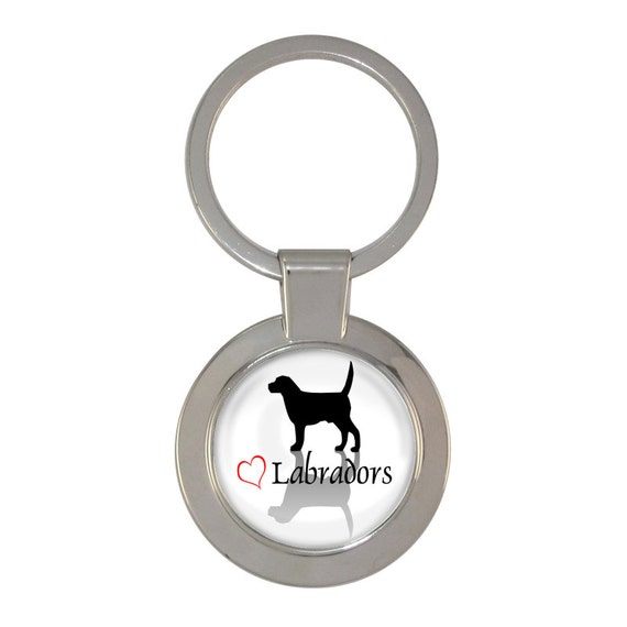 Amour du Labrador Shadow Design trapu porte clés