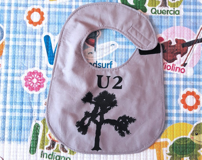 U2, The Joshua Tree, Rock, waterproof, cotton, handmade, funny bibs, baby bibs, custom bibs hand painted