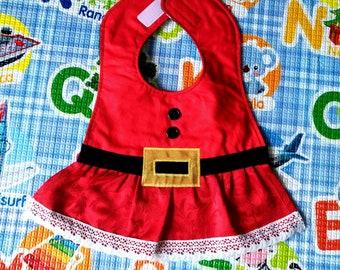 Santa Claus bibs, Christmas bibs, waterproof bibs, cotton bibs, handmade bibs, funny bibs, boy girl bibs, baby bibs, custom bibs