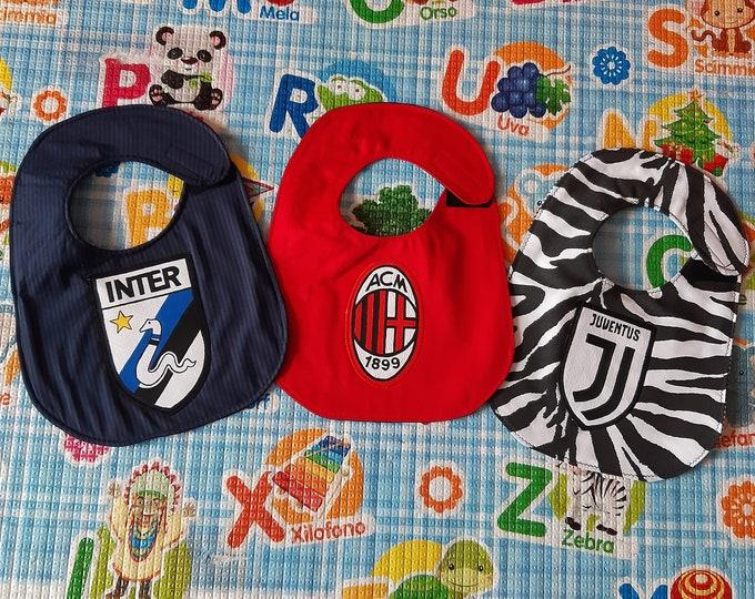 FOOTBALL TEAM baby bib, waterproof, cotton, handmade, funny, custom bibs hand painted