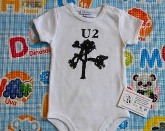 U2-The Joshua Tree baby bodysuit, newborn, baby boy, baby girl, custom baby romper