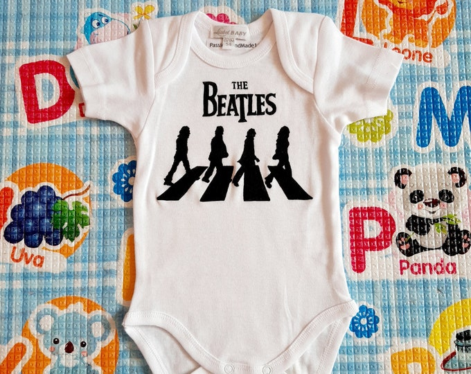 THE BEATLES baby bodysuit, newborn, baby boy, baby girl, custom baby romper