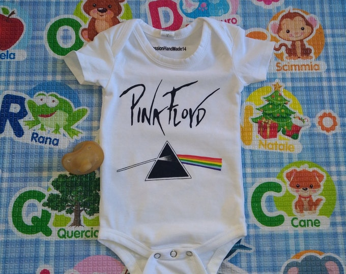 PINK FLOYD, Dark Side of the Moon and The Wall, baby bodysuit, newborn, baby boy, baby girl, custom baby romper