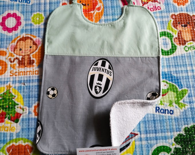 Big bib JUVENTUS MILAN INTER, personalized with name, 100% cotton