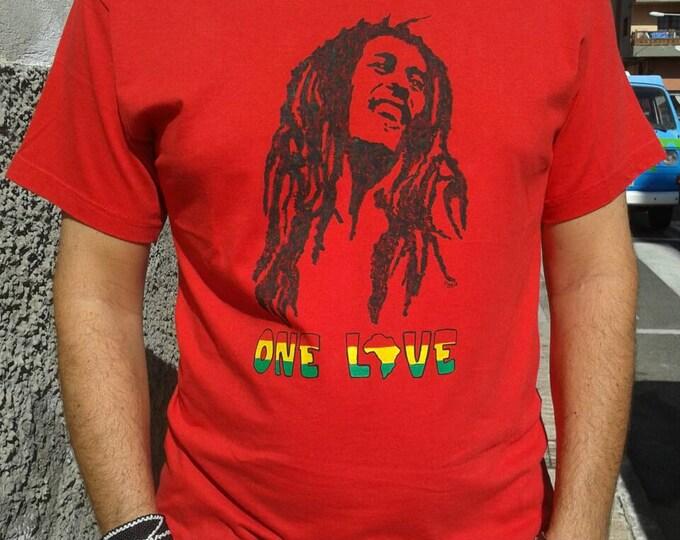 Bob Marley t-shirt, reggae music, africa, jamaica, rastafarian, one love, marley t-shirt, hand painted tshirts, cotton tshirt, custom shirt