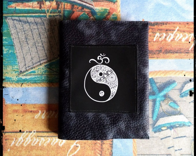 Yin Yang, Bob Marley - leather cover notebook A6