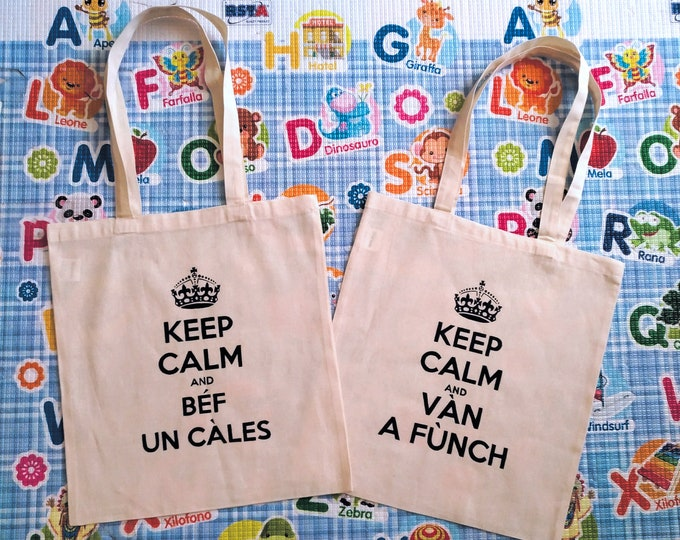 KEEP CALM custom bag with personalized quote