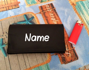 Tobacco leather pouch, real leather wallet, hand made