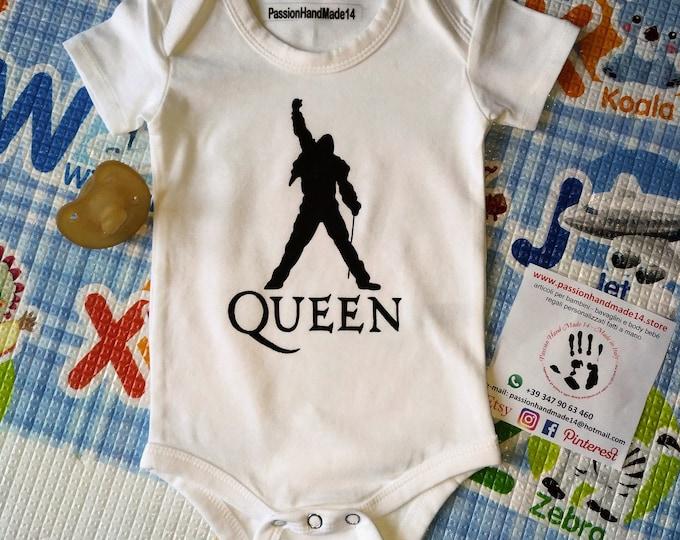 THE QUEEN baby bodysuit, newborn, baby boy, baby girl, custom baby romper
