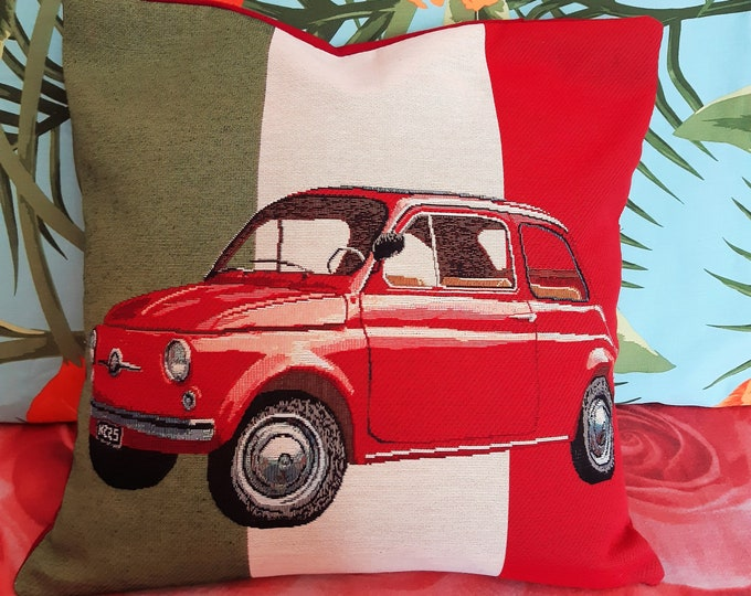 """FIAT 500, cover for pillow 18""""x18"""""""