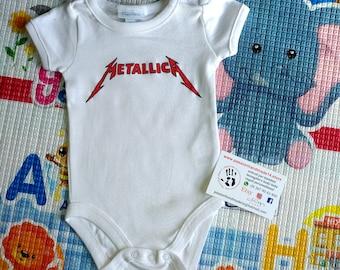 METALLICA baby bodysuit, newborn, baby boy, baby girl, custom baby romper