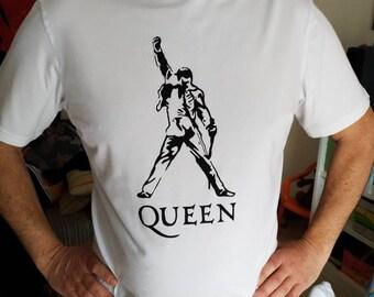THE QUEEN tshirt, Freddie Mercury, hand painted tshirts