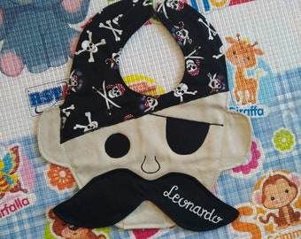 Pirate bibs, waterproof bibs, sailor bibs, cotton bibs, handmade bibs, funny bibs, boy girl bibs, baby bibs, binky bib, custom bibs